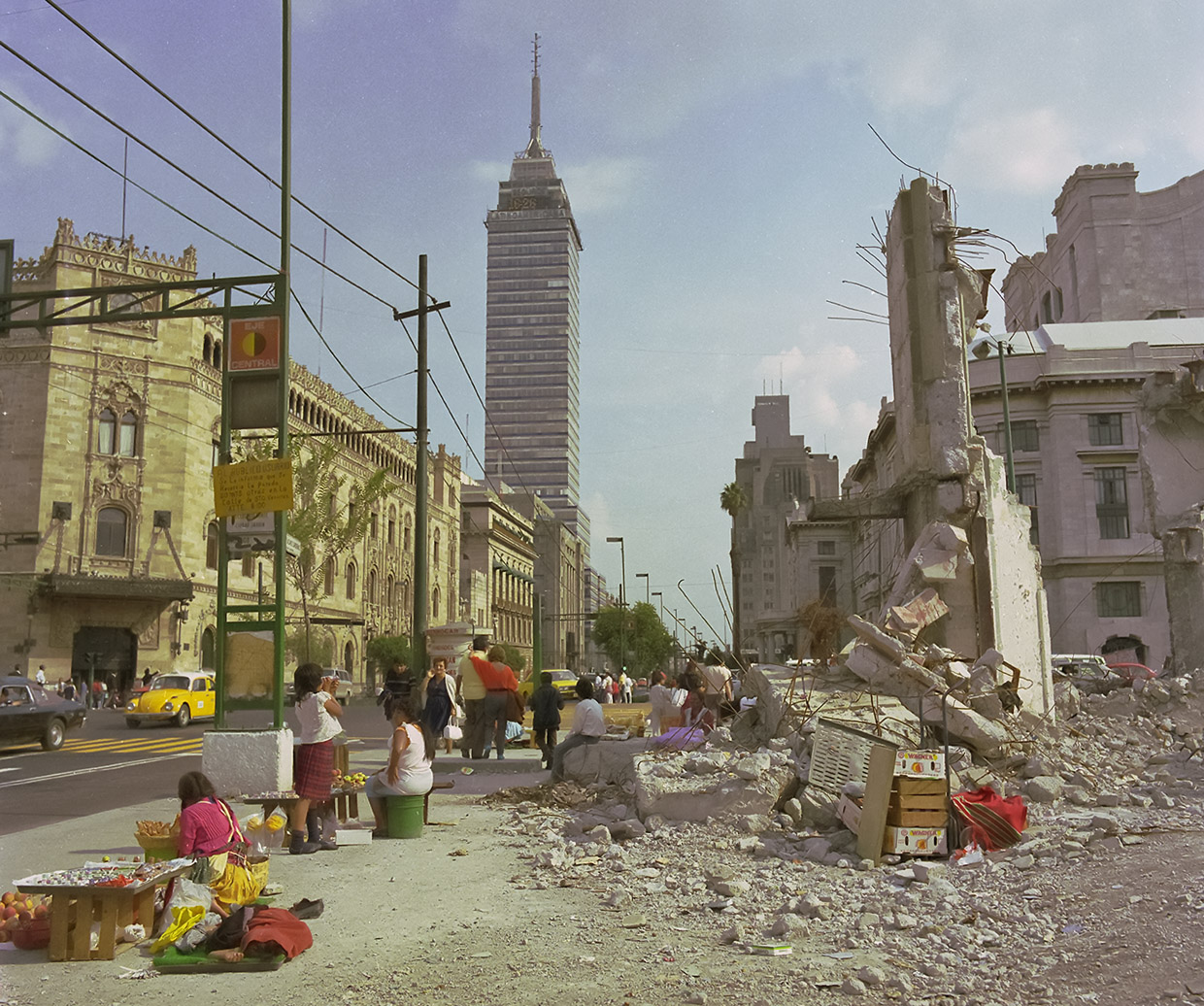 Mexico City, after earthquake